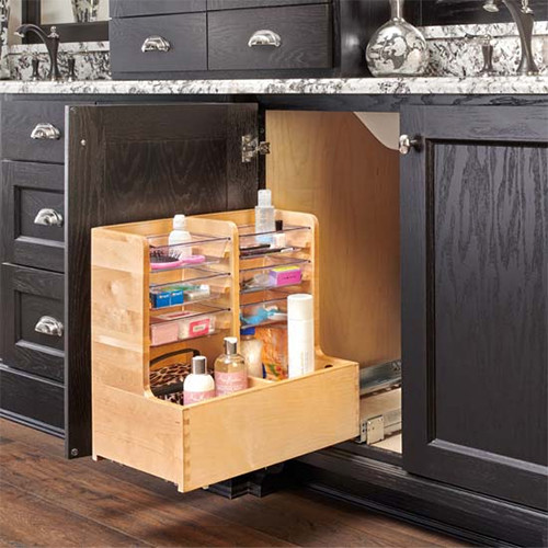 Under Sink Pullout L-Shape Reversible Organizer