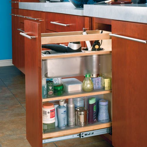 Cabinet Pullout Grooming Organizer