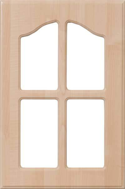 AL757 Routed Cabinet French Lite Door