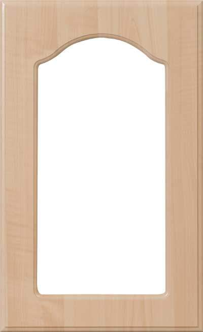 AL757 Routed Cabinet Glass Cut Out Door
