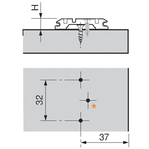 Blum CLIP Mounting Plate Planning Graphic