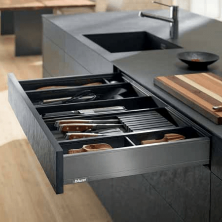 LEGRABOX Orion Gray Drawers and Accessories